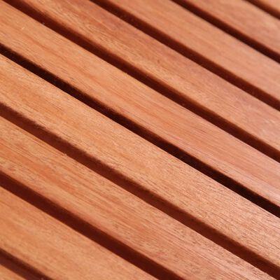 vidaXL Set bistro pentru copii, 3 piese, lemn masiv de eucalipt