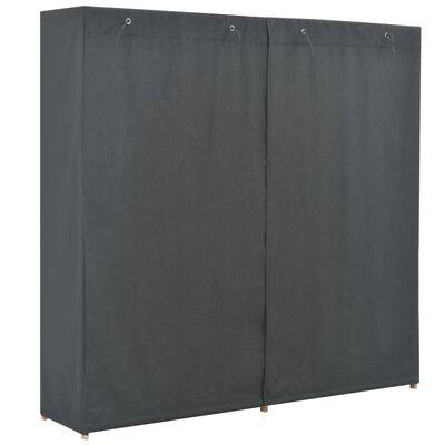 vidaXL Șifonier, gri, 200 x 40 x 170 cm, material textil