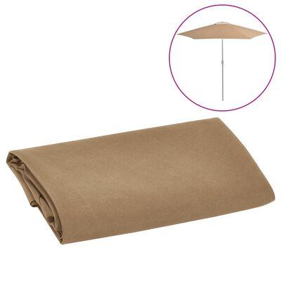 vidaXL Pânză de schimb umbrelă de soare de exterior gri taupe 300 cm