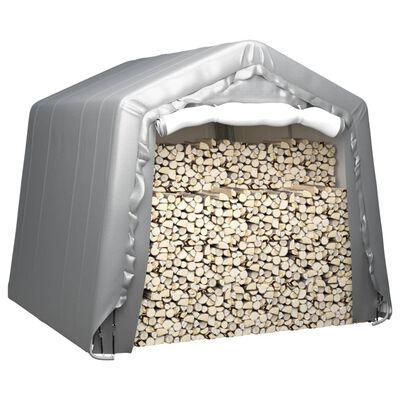 vidaXL Cort de depozitare, gri, 240x240 cm, oțel