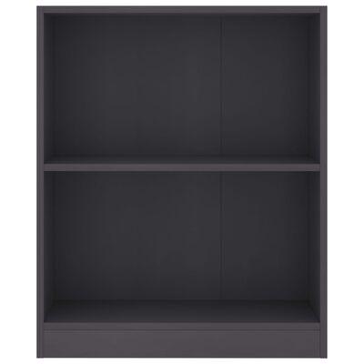 vidaXL Bibliotecă, gri, 60 x 24 x 74,5 cm, PAL