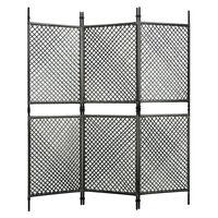 vidaXL Paravan cameră, 3 panouri, antracit, poliratan, 180 x 200 cm