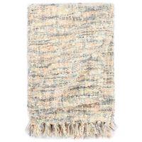 vidaXL Pătură decorativă, 125 x 150 cm, roz/alb/gri