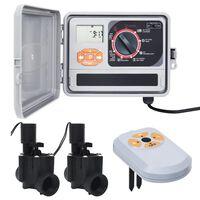 vidaXL Programator de irigare, senzor de umiditate & supapă solenoid