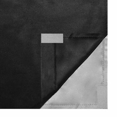 vidaXL Draperii opace, 2 buc., strat dublu, 140 x 175 cm, negru
