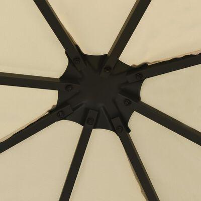vidaXL Pavilion cu șir de lumini, crem, 3x3 m