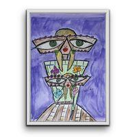 Tablou Pictat Manual In Ulei Pastel Elle 50x70 Cm