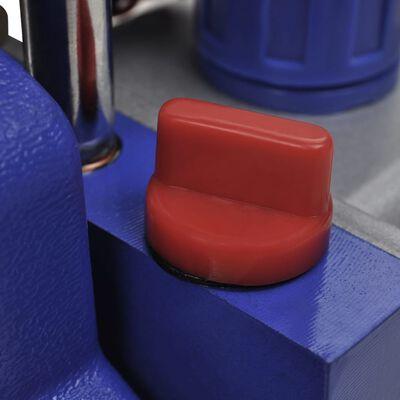 vidaXL Pompă de vid cu etapă unică, set de manometre cu 4 porturi