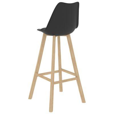 vidaXL Set mobilier de bar, 7 piese, negru