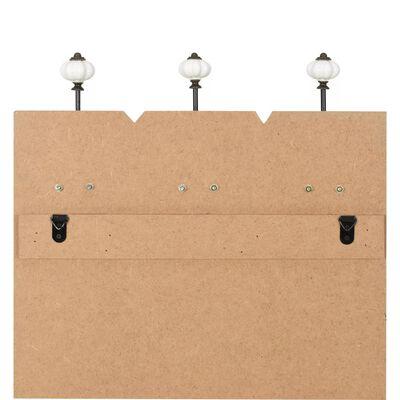 vidaXL Cuier de perete cu 6 cârlige, 120x40 cm, THANK YOU