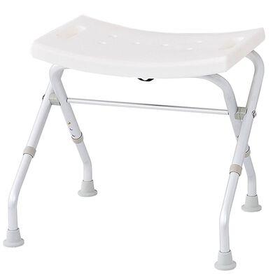 RIDDER Taburet de baie pliabil, alb, 110 kg A0050301