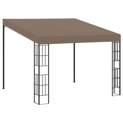 vidaXL Pavilion montat pe perete, gri taupe, 3 x 3 m, material textil