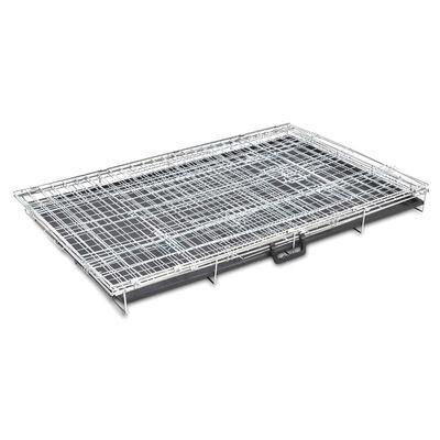 vidaXL Cușcă pentru câini pliabilă, metal, XL