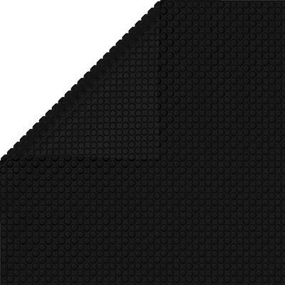 vidaXL Prelată piscină, negru, 800 x 500 cm, PE, dreptunghiular