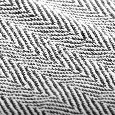 vidaXL Pătură decorativă model spic, bumbac, 125 x 150 cm, bleumarin