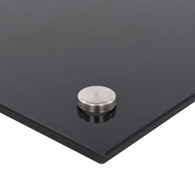 vidaXL Panou antistropi bucătărie, negru, 90x50 cm, sticlă securizată