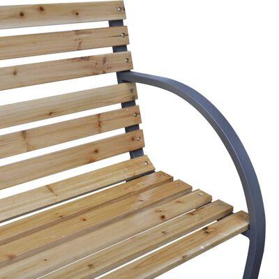 vidaXL Bancă de grădină, 120 cm, lemn și fier