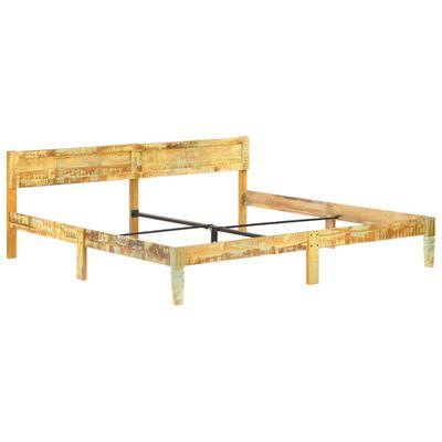 vidaXL Cadru de pat, 200 x 200 cm, lemn masiv reciclat