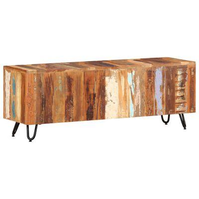 vidaXL Comodă TV, 110 x 30 x 40 cm, lemn masiv reciclat
