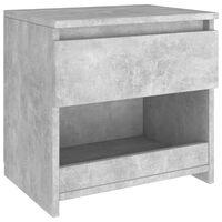 vidaXL Noptieră, gri beton, 40x30x39 cm, PAL