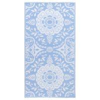 vidaXL Covor de exterior, bleu, 160x230 cm, PP