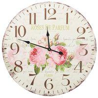 vidaXL Ceas de perete vintage, 60 cm, floare