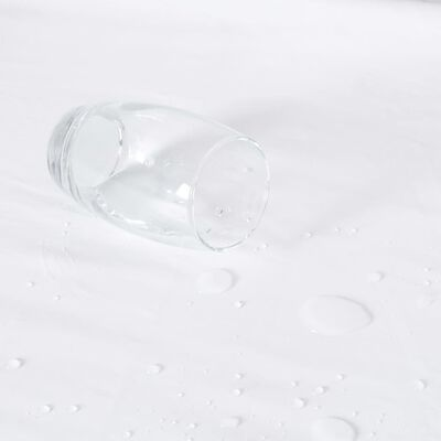 vidaXL Protecții saltea impermeabile, 2 buc., alb, 140x200 cm, bumbac