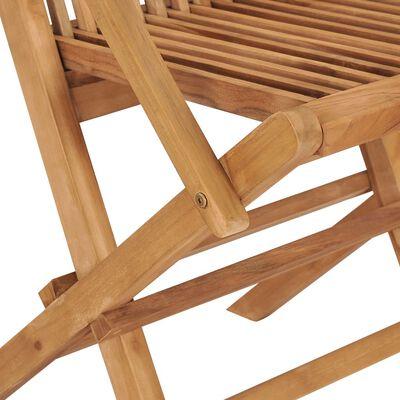 vidaXL Scaune de grădină cu perne alb crem, 8 buc., lemn masiv de tec