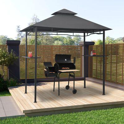 vidaXL Pavilion de grătar, antracit, 240 x 150 x 255 cm, oțel