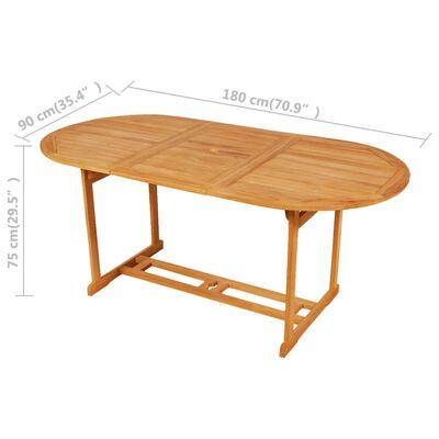 vidaXL Set mobilier de grădină cu perne gri, 9 piese, lemn masiv tec