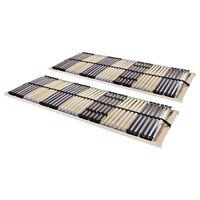 vidaXL Baze de pat cu șipci, 2 buc., 42 șipci, 7 zone, 90 x 200 cm