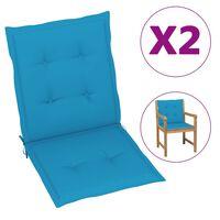 vidaXL Perne scaun de grădină, 6 buc., albastru, 100 x 50 x 4 cm