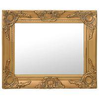 vidaXL Oglindă de perete în stil baroc, auriu, 50 x 40 cm