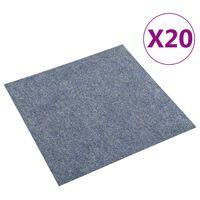 vidaXL Dale mochetă pentru podea, 20 buc., albastru, 5 m²