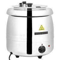 vidaXL Fierbător electric pentru supă, 10 L, oțel inoxidabil