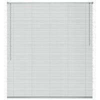 vidaXL Jaluzele pentru ferestre, aluminiu, 100 x 130 cm, argintiu