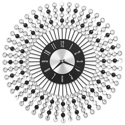 vidaXL Ceas de perete, negru, 43 cm, metal