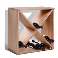 Suport Pentru Sticle De Vin Si Lichioruri 24 De Sticle Lemn Natural