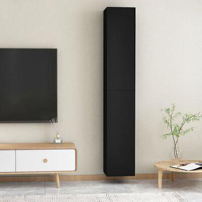 vidaXL Comode TV, 2 buc., negru, 30,5x30x90 cm, PAL