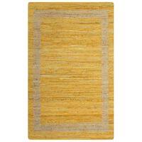 vidaXL Covor manual, galben, 80 x 160 cm, iută