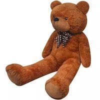vidaXL Ursuleț de pluș moale de jucărie XXL, maro, 160 cm