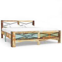 vidaXL Cadru de pat, 140 x 200 cm, lemn masiv reciclat