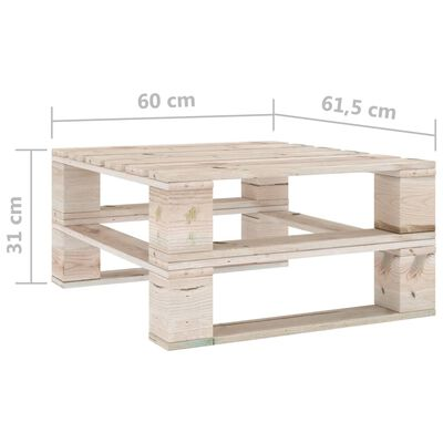 vidaXL Set mobilier grădină din paleți, 5 piese, lemn de pin