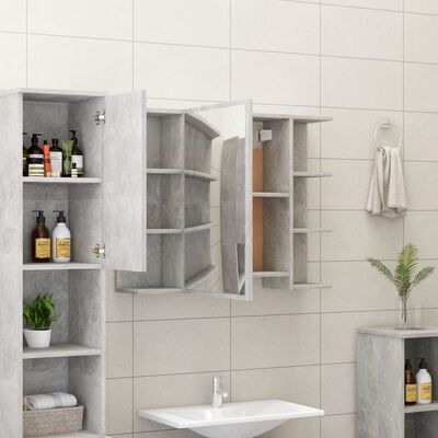 vidaXL Set mobilier baie, 3 piece, gri beton, PAL