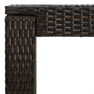 vidaXL Masă de bar de grădină, maro, 60,5 x 60,5 x 110,5 cm, poliratan