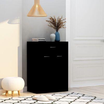 vidaXL Pantofar, negru, 60 x 35 x 84 cm, PAL    , Negru