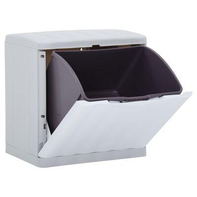 vidaXL Coș de separare a deșeurilor, alb, 20 L, 40x30x40 cm