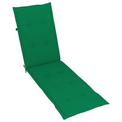 vidaXL Pernă de șezlong, verde, (75 + 105) x50x4 cm