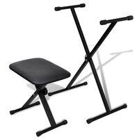 Set stativ claviatură și scaun