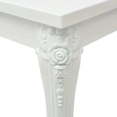 vidaXL Măsuță de cafea, alb extralucios, 115x65x42 cm